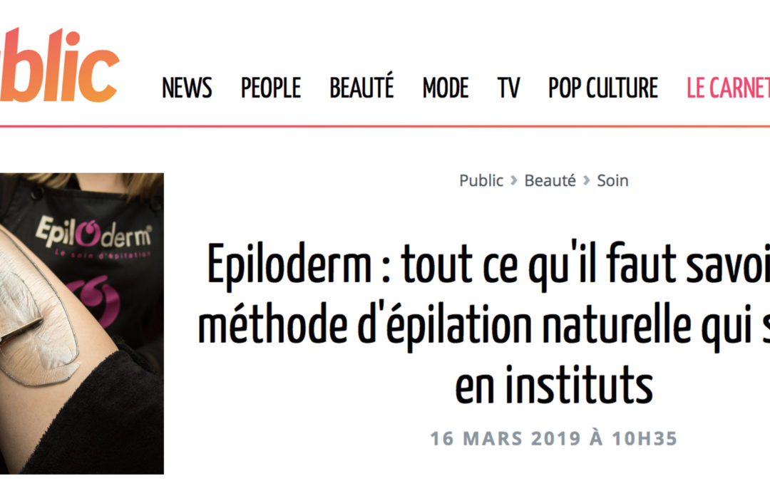 ACTUALITES / VU SUR PUBLIC.FR / MARS 2019