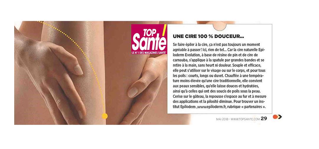 top santé_cire_douceur_peau_épiler_gommage